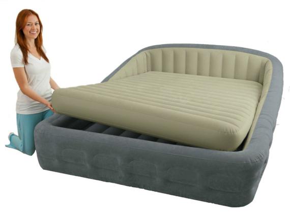 Надувная кровать с матрасом