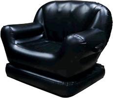 Надувное кресло черное