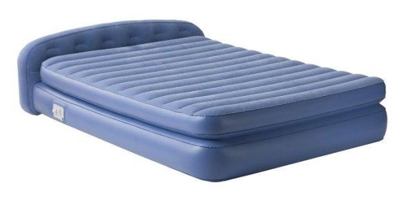 Синяя надувная кровать